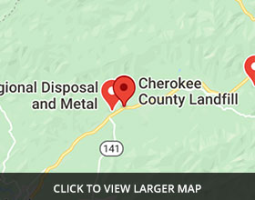 Cherokee County Landfill - Click to View Map